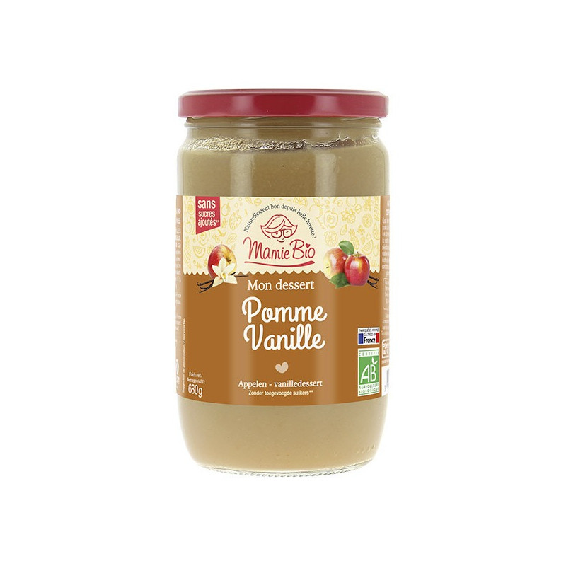 Compote pomme vanille - 680g