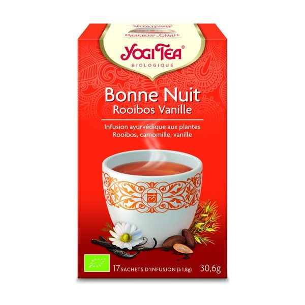 Infusion bonne nuit rooibos vanille - 17 sachets