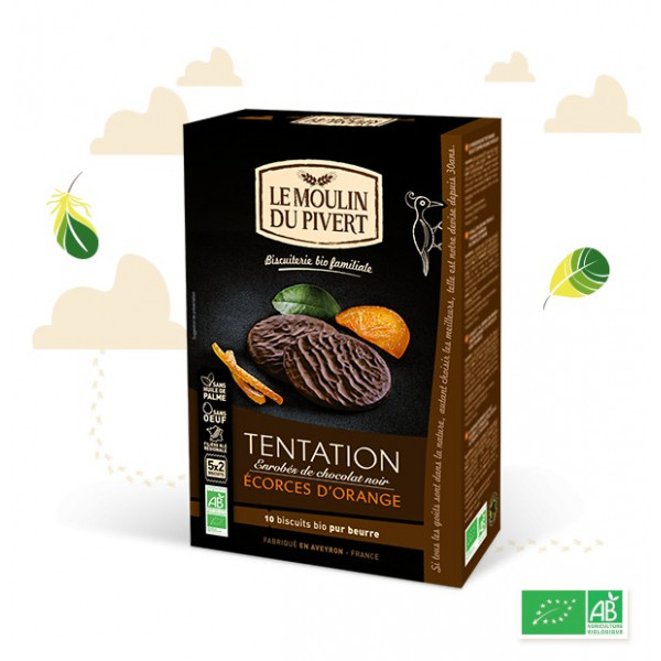 Biscuits tentation orange - 130 g