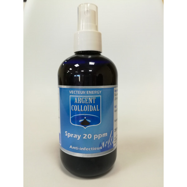 Spray solution argent colloïdal 20ppm - 250 ml
