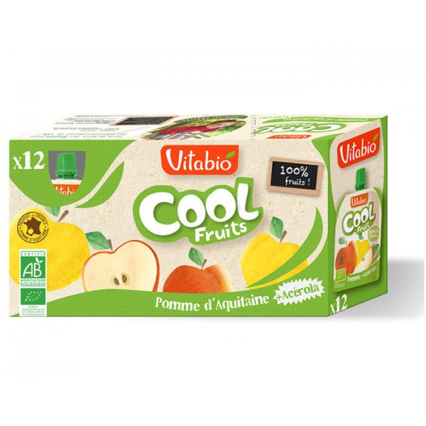 Compote cool fruit pomme acérola - 12x90 g