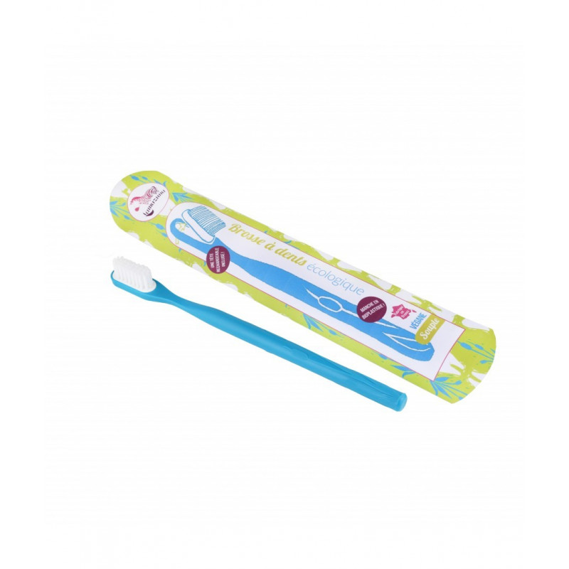 Brosse à dents rechargeable bleue médium