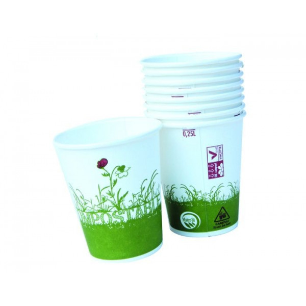 Gobelets fibre compostable 25 cl - x12