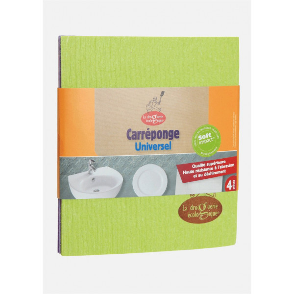 Eponges carrées cellulose - x4