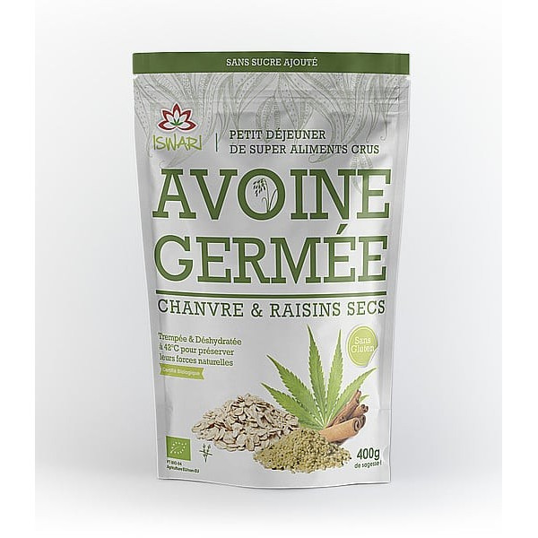 Avoine germé chanvre raisin sec - 400 g