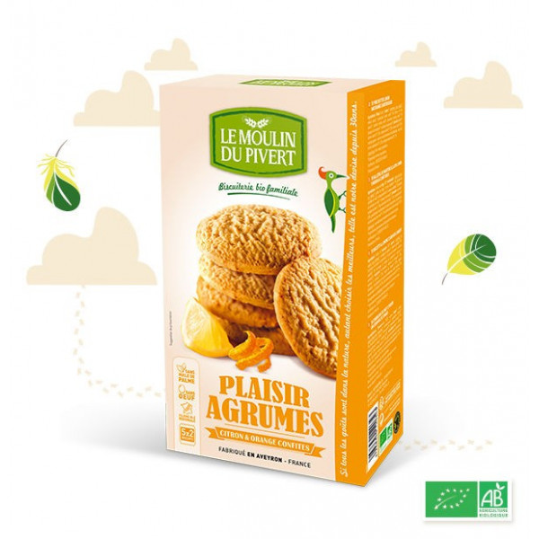 Biscuits plaisir agrume - 175g