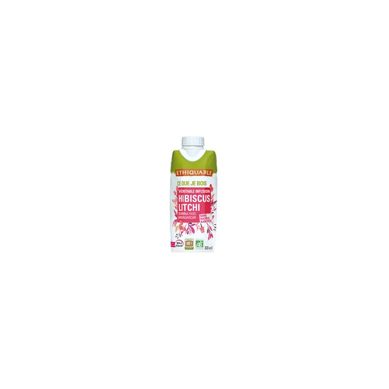 Infusion glacée hibiscus litchi - 33cl
