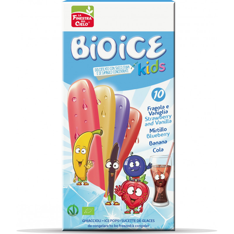 Glaces à l'eau assorties Kids - 10 x 40ml