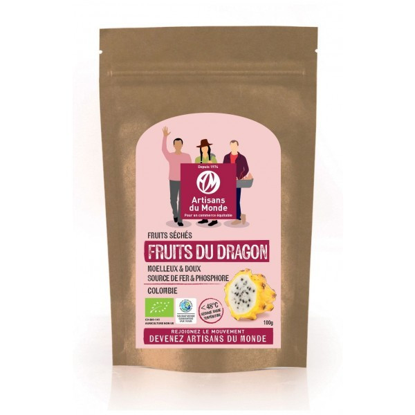 Fruits du dragon séché - 100g