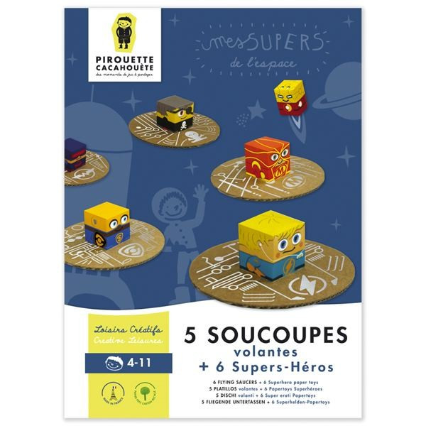 Kit cartons à monter - 5 soucoupes