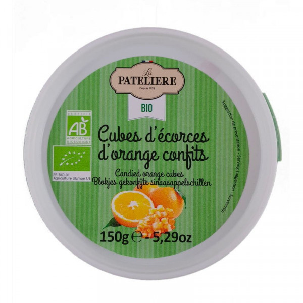 Cubes d'écorces d'orange confits - 150g
