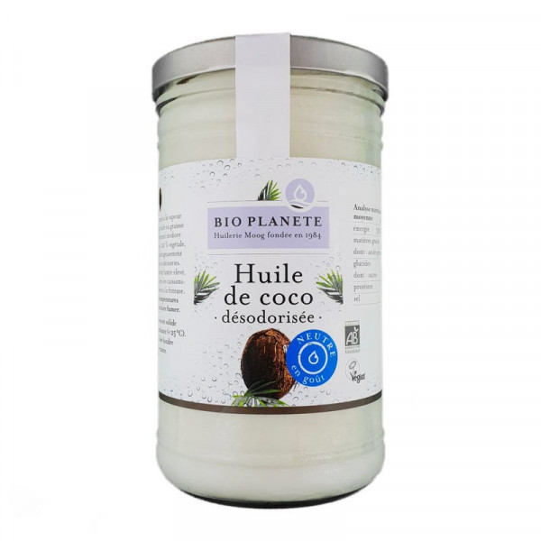 Huile de coco désodorisée - 1 L