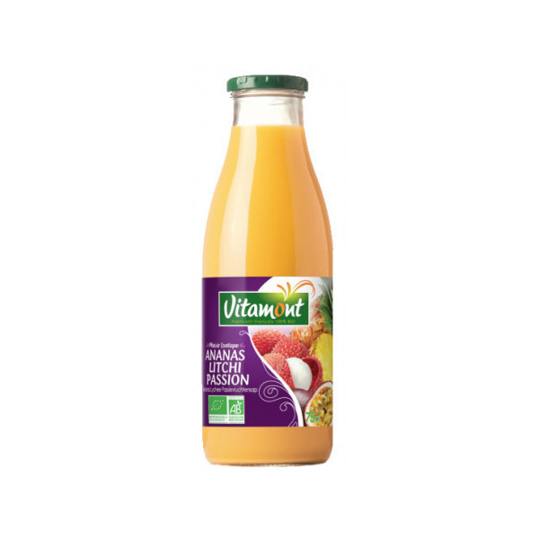 Pur jus ananas litchi passion - 75cl