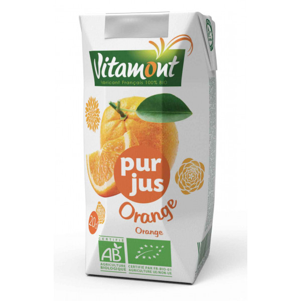 Pur jus d'orange briquette - 20 cl