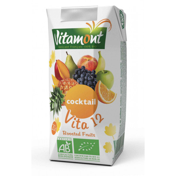 Jus vita 12 fruits briquette - 20 cl