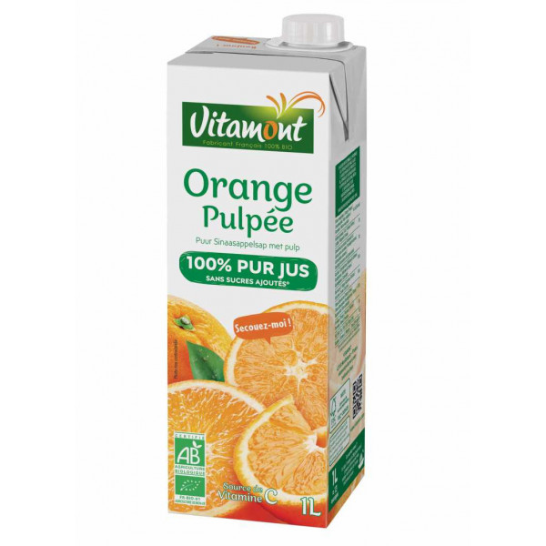 Pur jus d'orange pulpe brique - 1L
