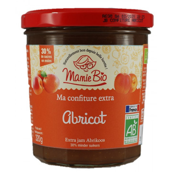 Confiture extra abricot - 320g
