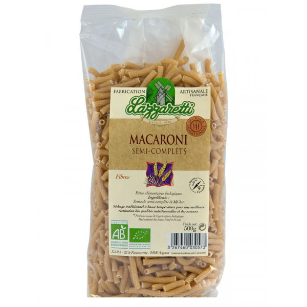 Macaronis semi-complets - 500 g