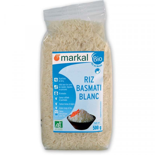 Riz basmati blanc long grain - 500 g