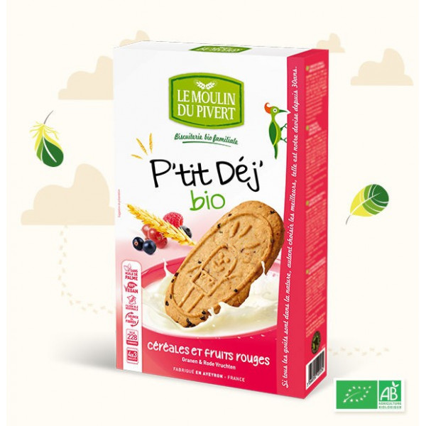 P'tit déj Fruits rouges - 190 g