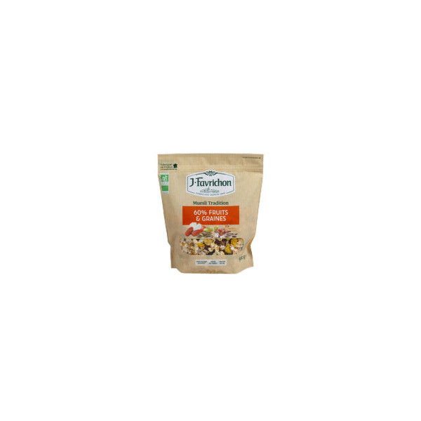 Muesli tradition 60% fruits et graines - 500g