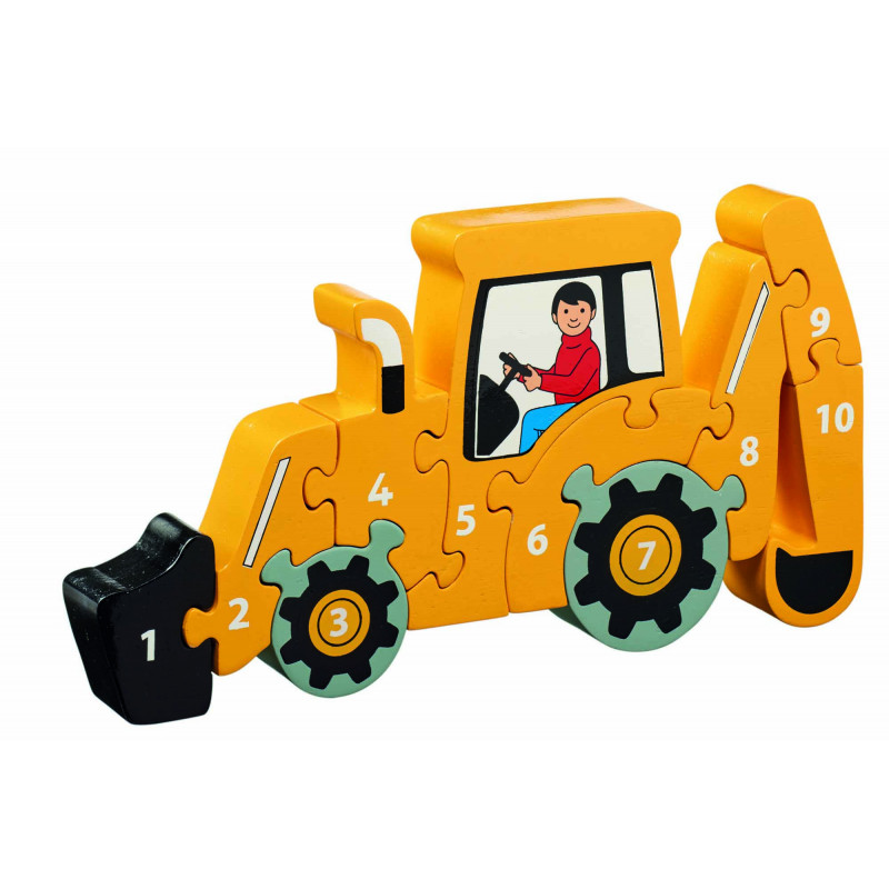 Puzzle tractopelle - 3ans+