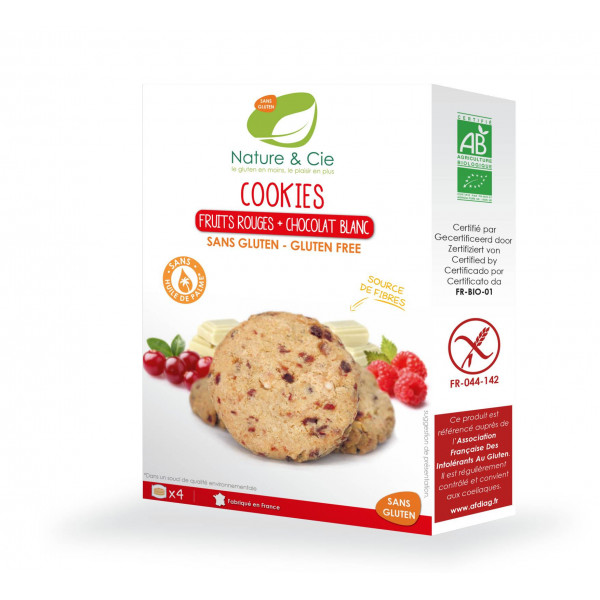 Cookies fruits rouges chocolat blanc - 150g