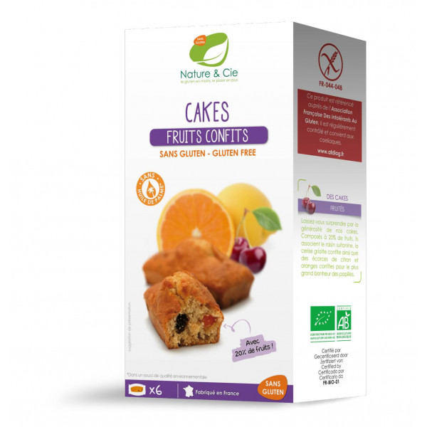 Cakes aux fruits confits - 180g