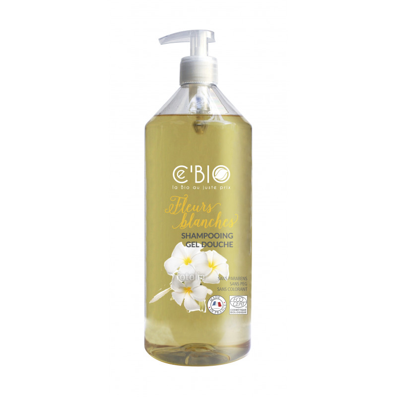 Shampoing douche fleurs blanches - 1 L