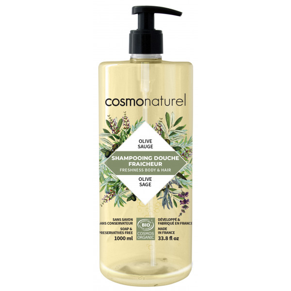 Shampoing douche olive sauge - 1l