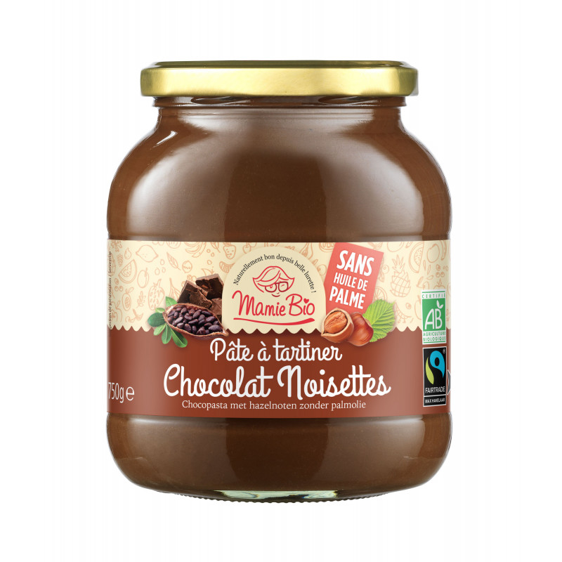 Pate à tartiner cacao noisette - 750g
