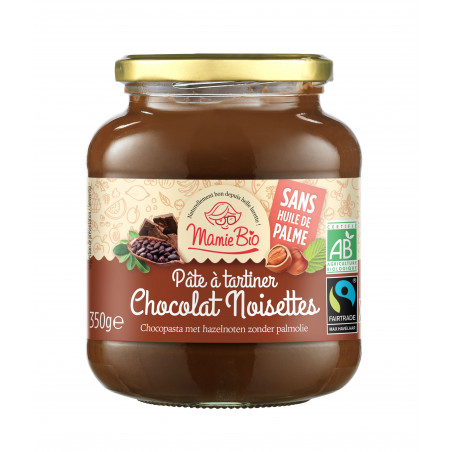 Pate à tartiner cacao noisette - 350 g